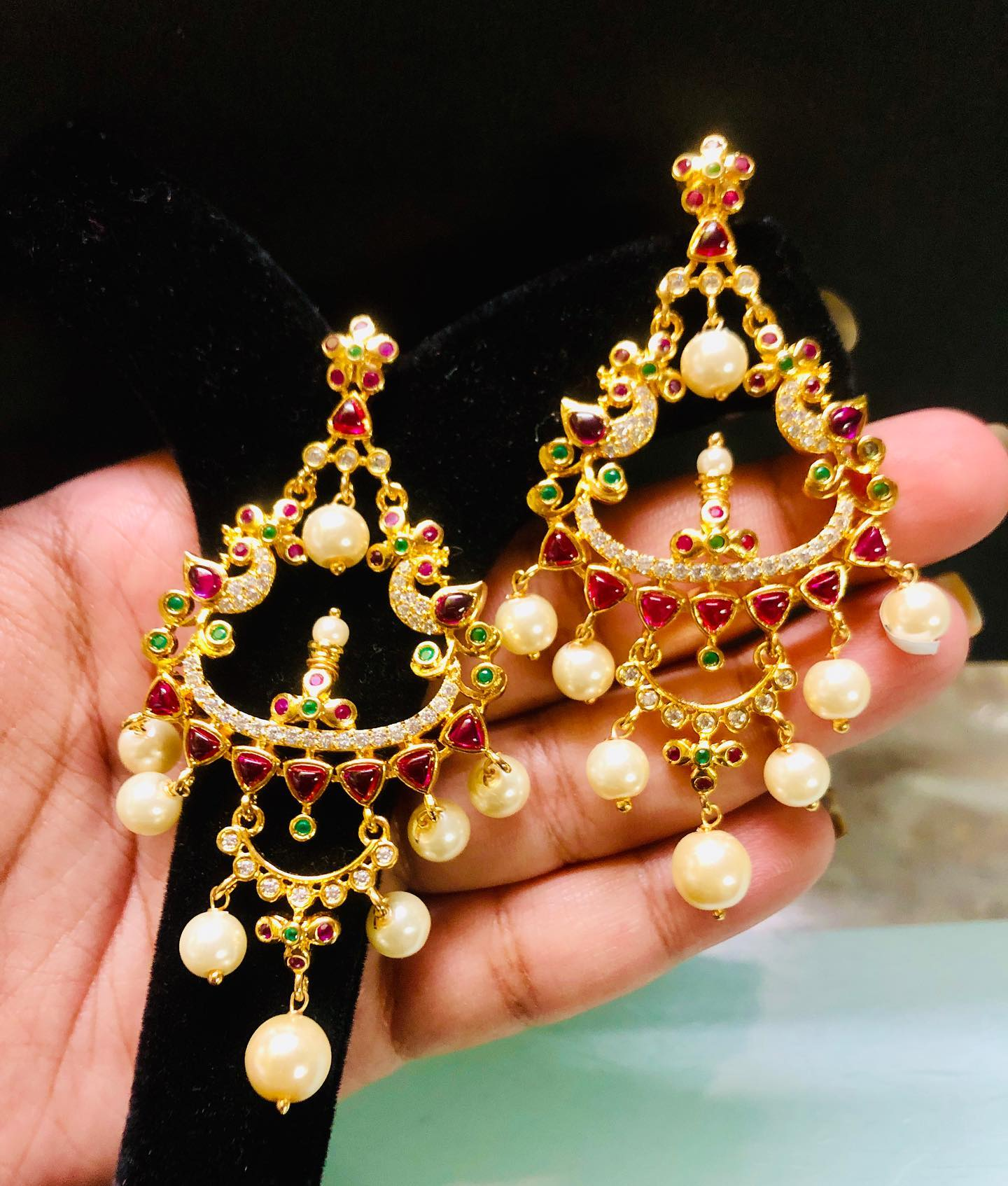 one gram gold Chandbalis. To order whatsapp me on 8978304347
