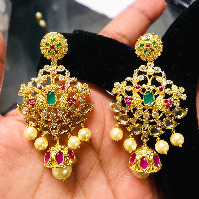Uncuts earrings To order whatsapp me on 8978304347