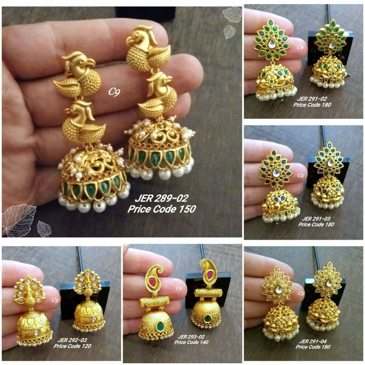 Beautiful one gram gold jumkhis collections. one gram gold earrings online shopping 1 gram gold temple jewellery online shopping one gram gold stone jewellery