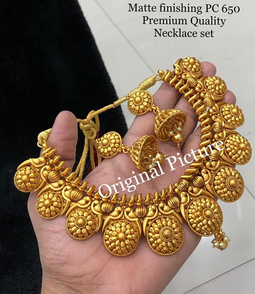 One gram gold Necklace set. 1 gram gold cz sets one gram gold shop one gram necklace