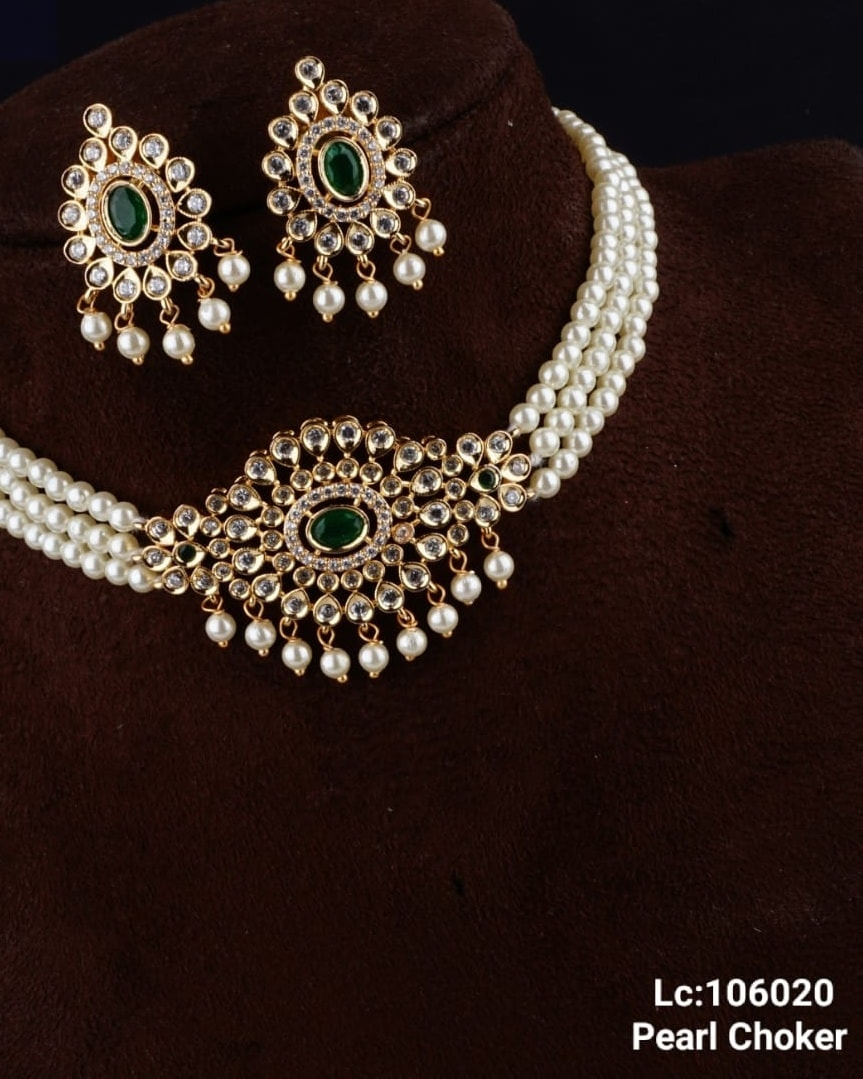 Beautiful one gram gold pearl choker. 1 gm gold chain designs one gram jewellery wholesale 1 gram gold chain for baby