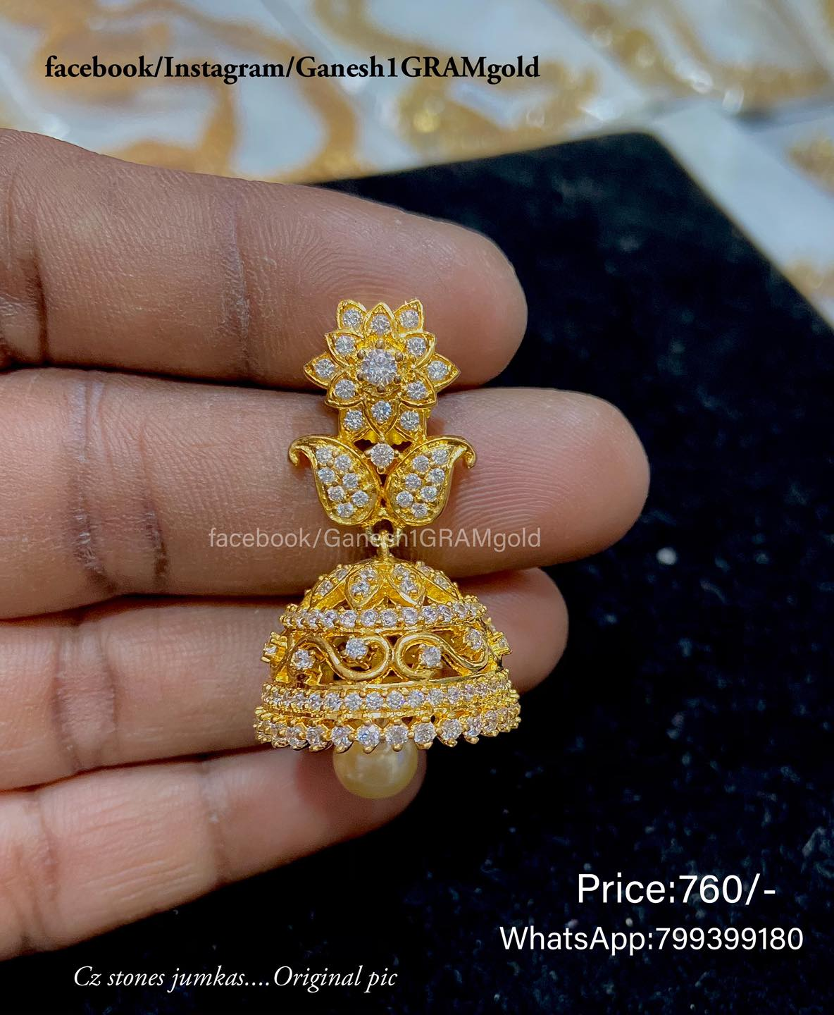 Cz stones jumkas...Original pic