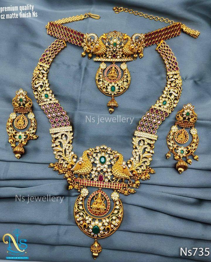 Beautiful one gram gold bridal set.
