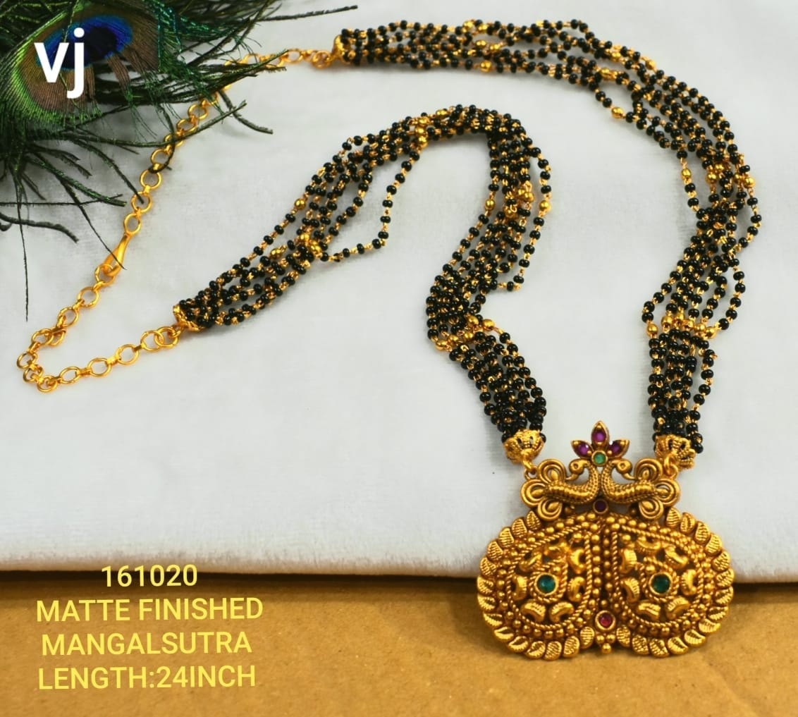 Beautiful one gram gold black bead haaram. Beautiful matte finish mangala sutra. matte finish one gram gold jewellery one gram gold jewellery designs 1 gram gold sets online
