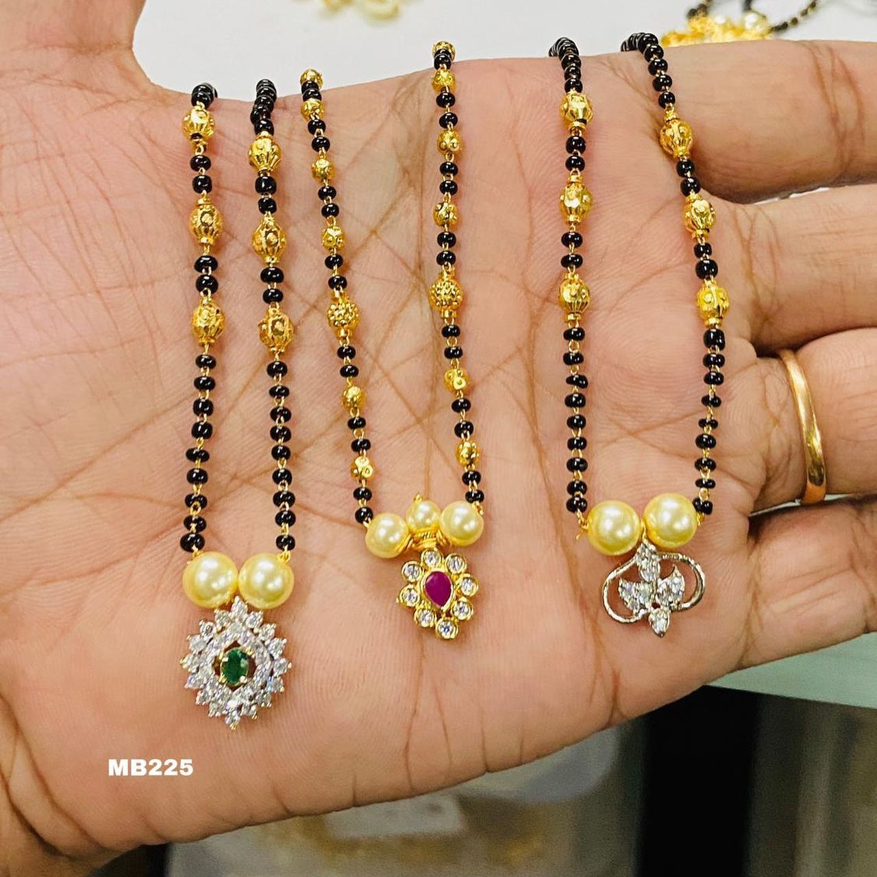 Beautiful one gram gold black bead haaram. Beautiful matte finish mangala sutra. Blackbeads combo for sale 