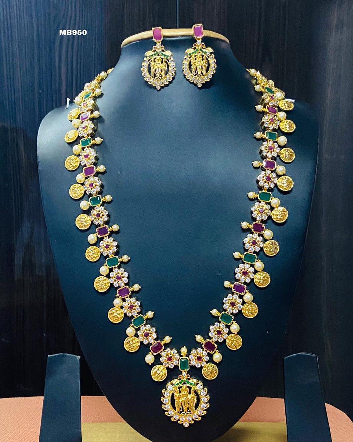 Gorgeous one gram gold Ram parivar haaram with Ram parivar pendant. 1 gram antique jewellery one gram gold haram 1gm gold jewellery with price