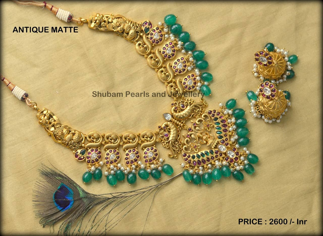 Beautiful one gram gold  mango necklace. 1 gram gold anklets one gram jewellery wholesale latest one gram gold necklace