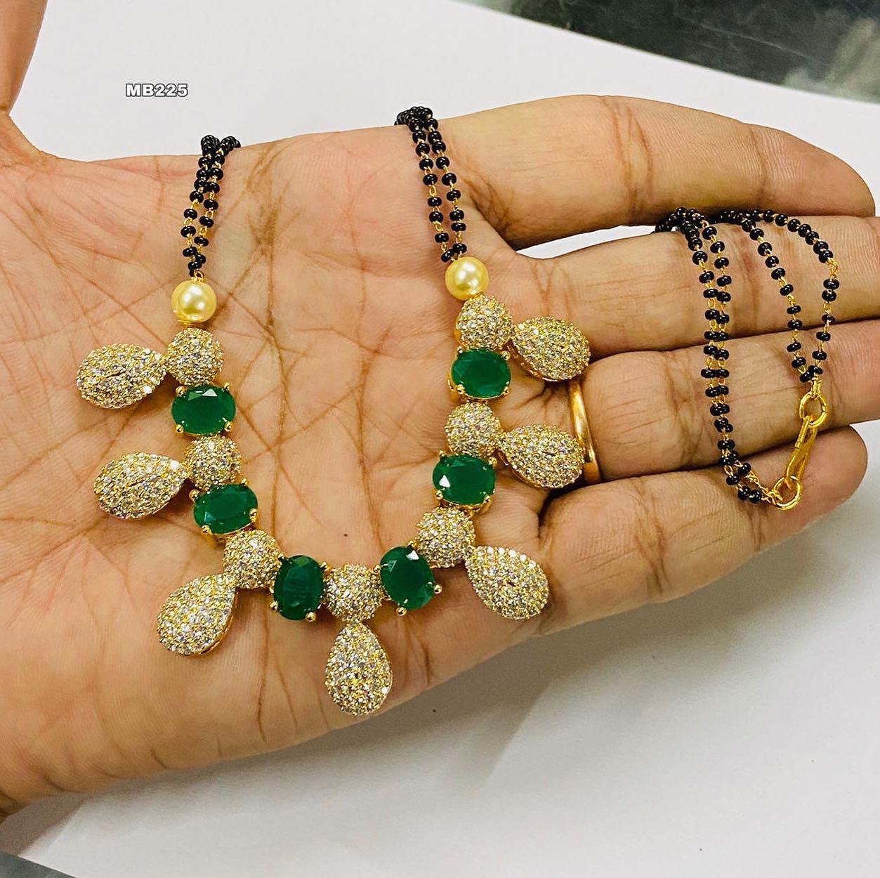 Beautiful one gram gold black bead studded with czs. one gram jewellery wholesale 1 gram gold jewellery mangalsutra price 1gm gold jewellery