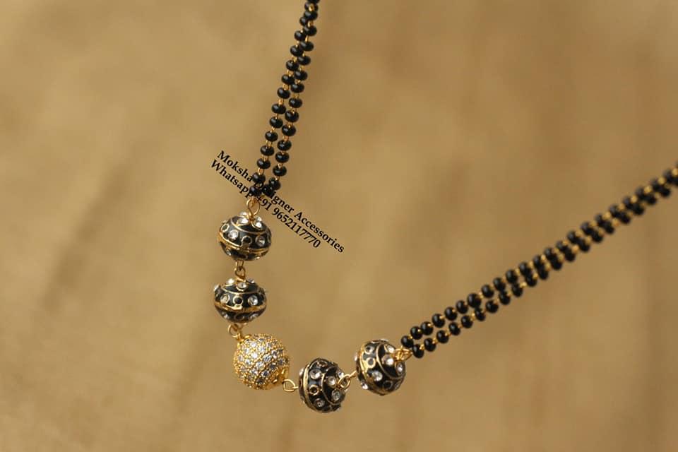 Beautiful one gram gold black bead chain.  one gram gold chain designs 1 gram gold jewellery one gram gold jewellery online shopping with price