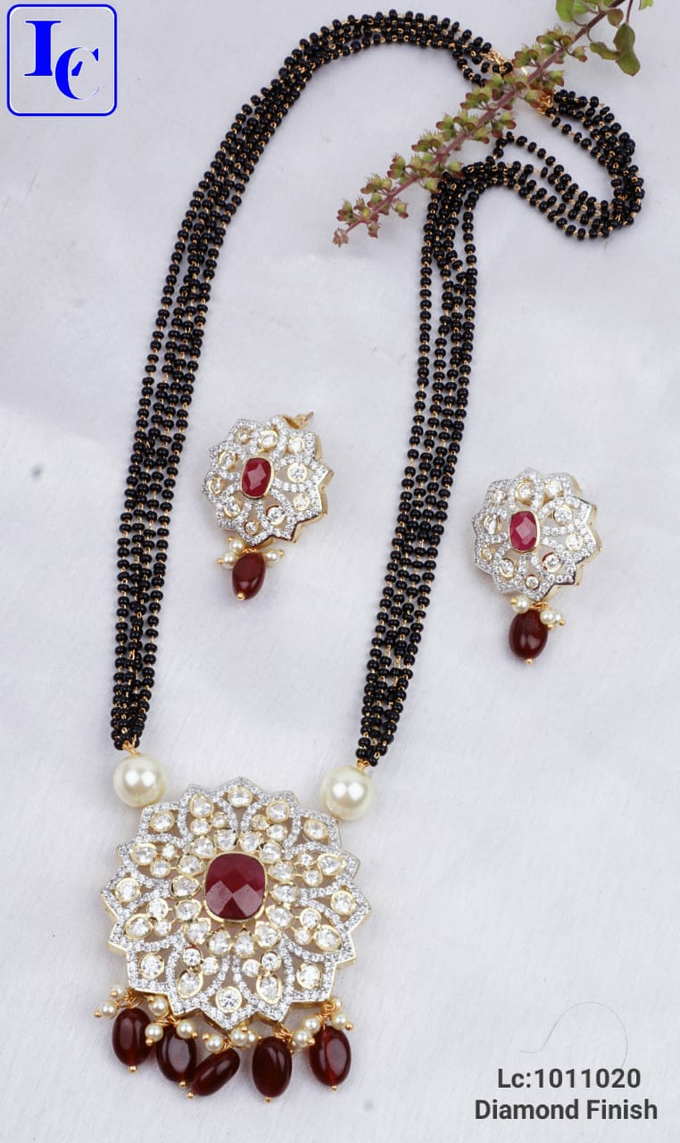 Beautiful one gram gold black bead chain with matching pendant and earrings.      1 gram gold online shopping one gram gold jewellery online shopping in hyderabad with price one gram gold covering