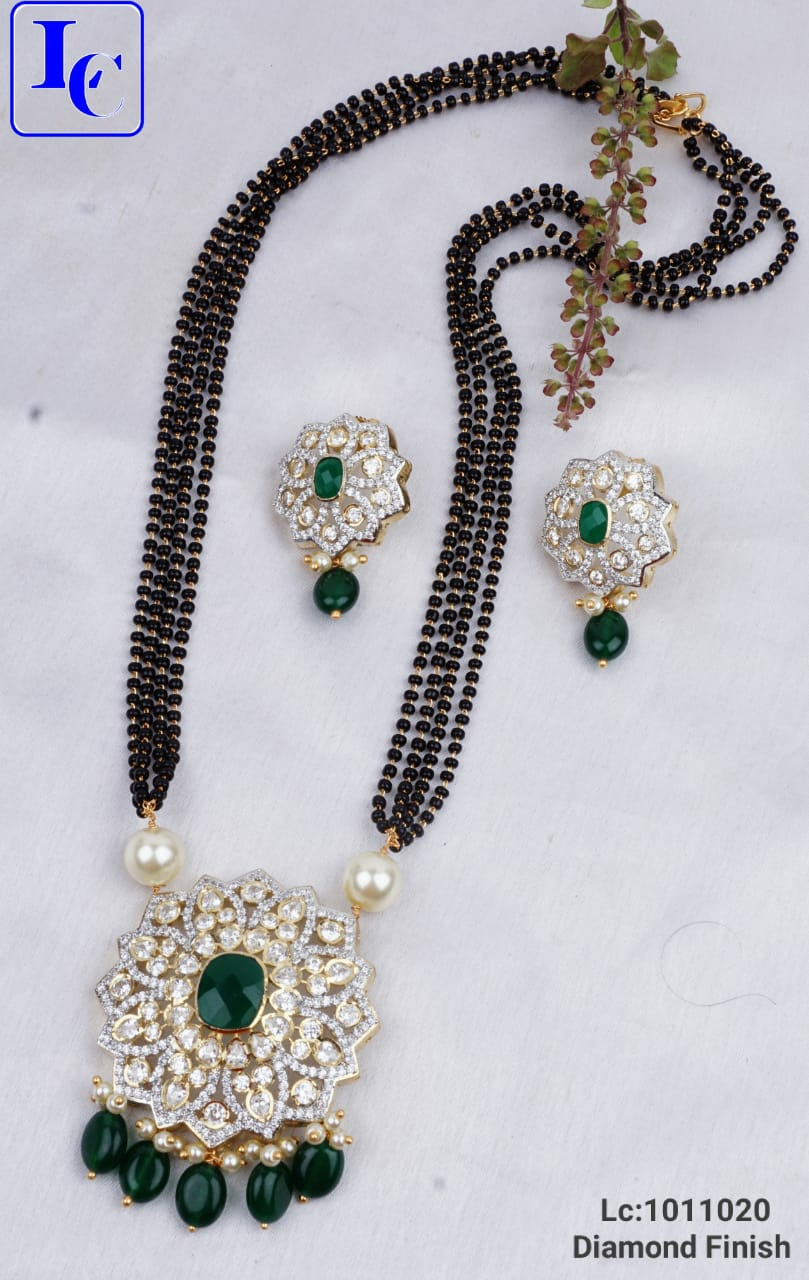 Beautiful one gram gold black bead chain with matching pendant and earrings.      one gram gold mangalsutra chain 1 gram temple jewellery 1 gram gold online