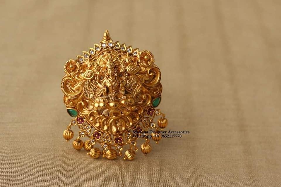 Stunning one gram gold Lakshmi devi pendant. 1 gram gold mix jewellery 1 gram gold antique jewellery 1 gram gold items