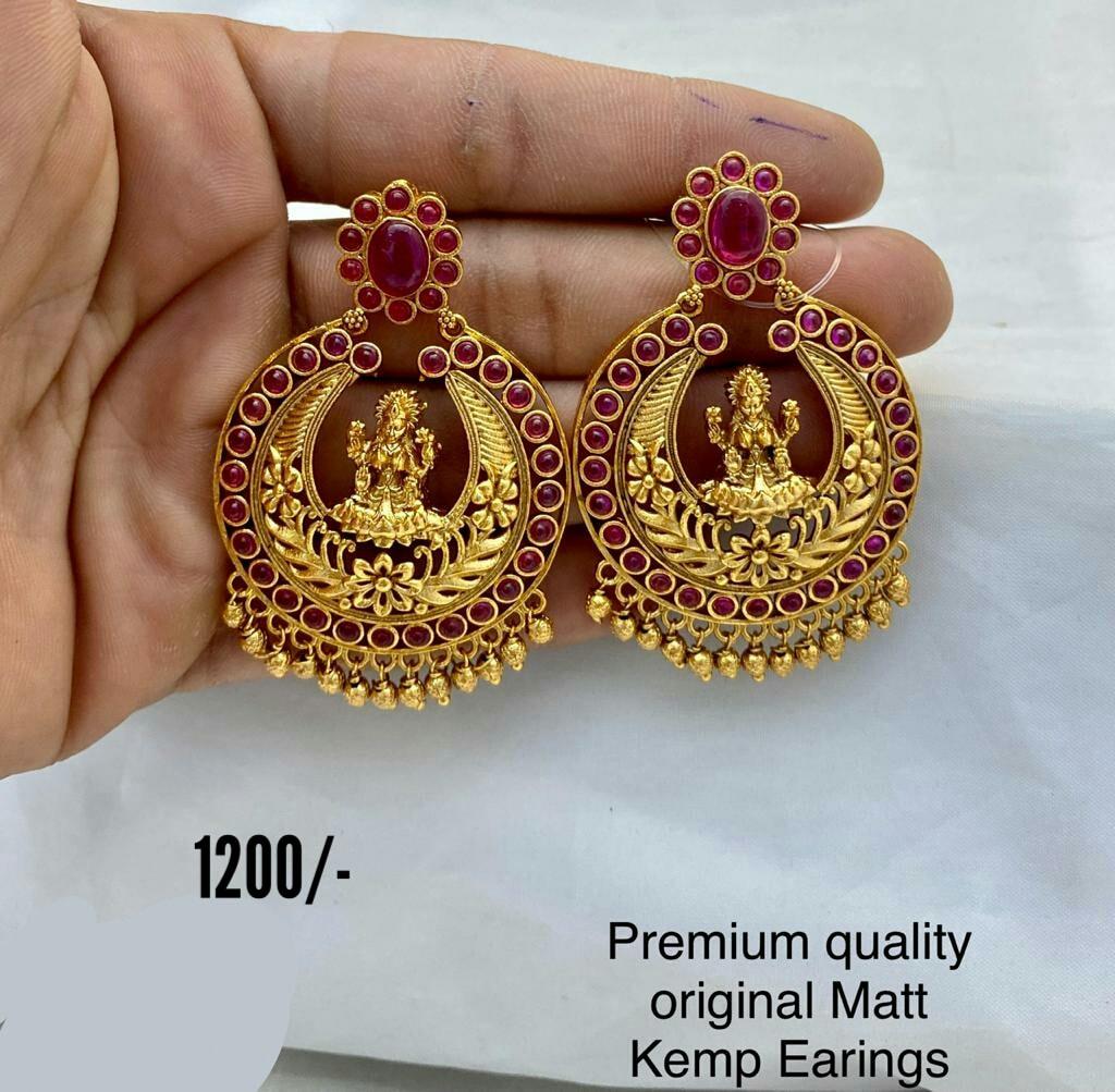 Beautiful one gram gold lakshmi devi chaandbalis. Price : 1200/-