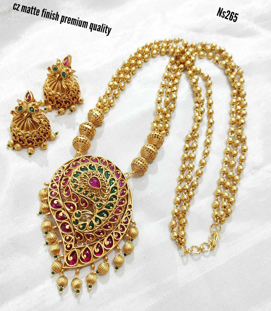 Beautiful one gram gold gold ball long haaram with mango pendnat. 1 gram gold jewellery with price 1 gram gold shop one gram gold haram