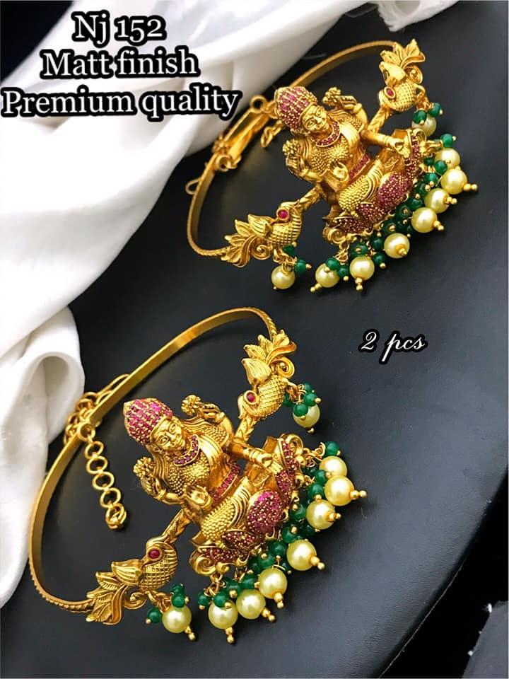 Beautiful one gram gold lakshmi devi Arm band.