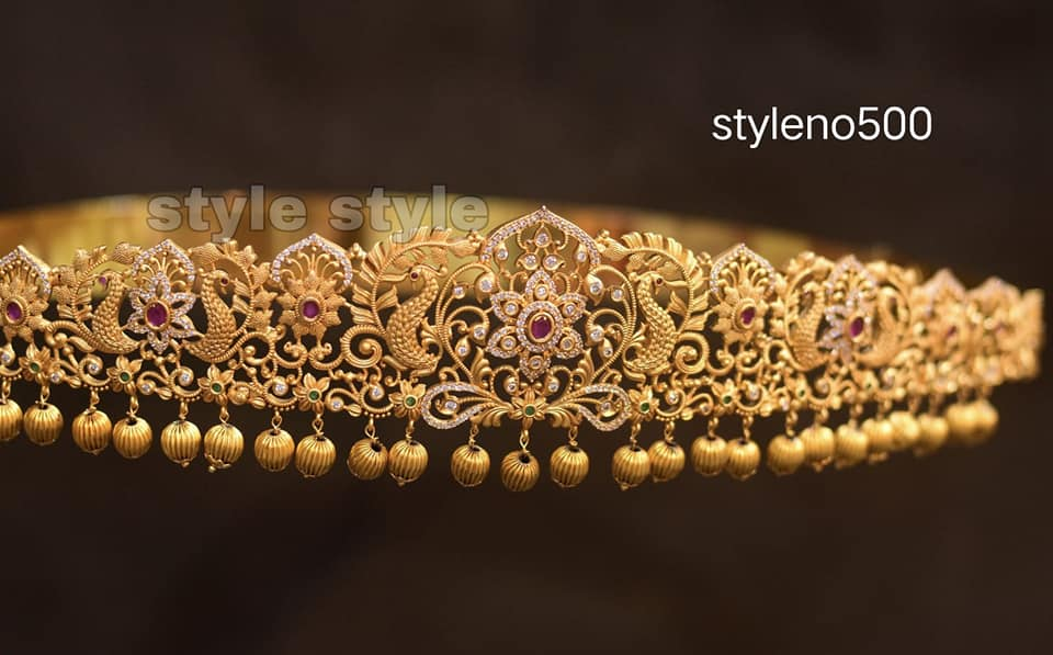 Beautiful one gram gold peacock waist belt.    1 gram gold sets with price latest 1 gram gold jewellery 1gm jewellery designs