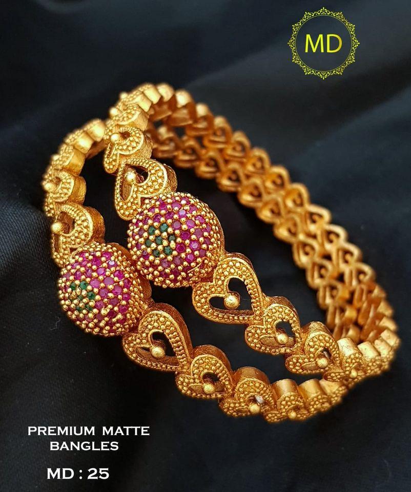Beautiful one gram gold heart bangles studded with czs. 1 gram gold online 1 gram gold jewellery set begum bazar one gram gold shops